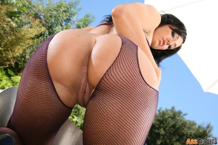 Ricki White Torn Fishnets
